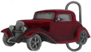 Red Hot Rod Belt Buckle with display stand (LA8)